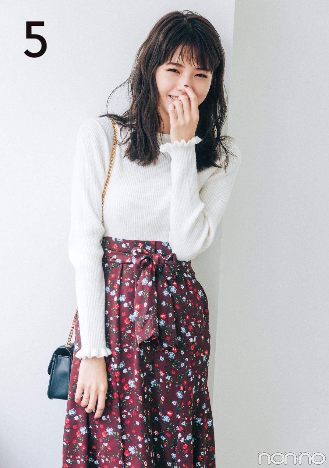 白のプチハイニットを10倍可愛く着る方法って?【2018秋冬ニットコーデ】_1_2-5
