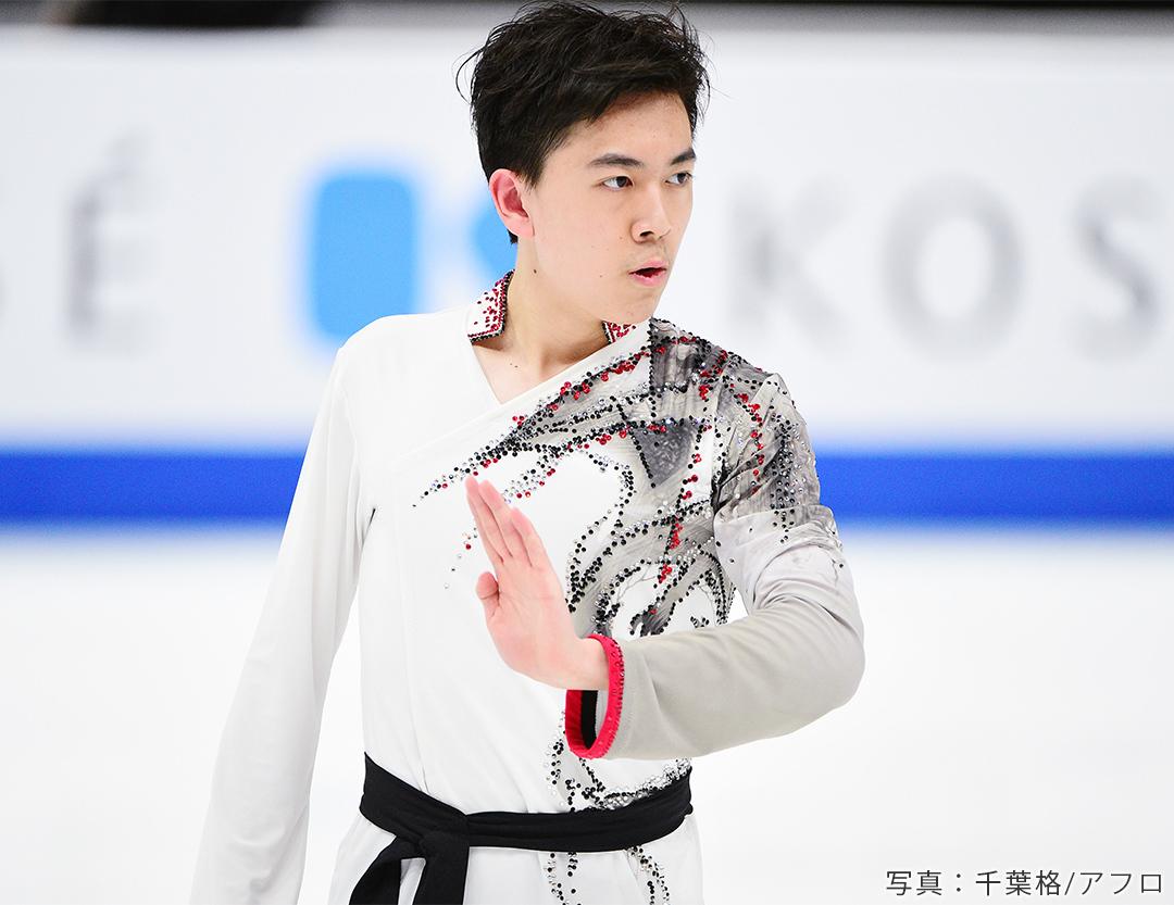 世界選手権2021に出場するフィギュアスケート男子、アメリカのヴィンセント・ジョウ
