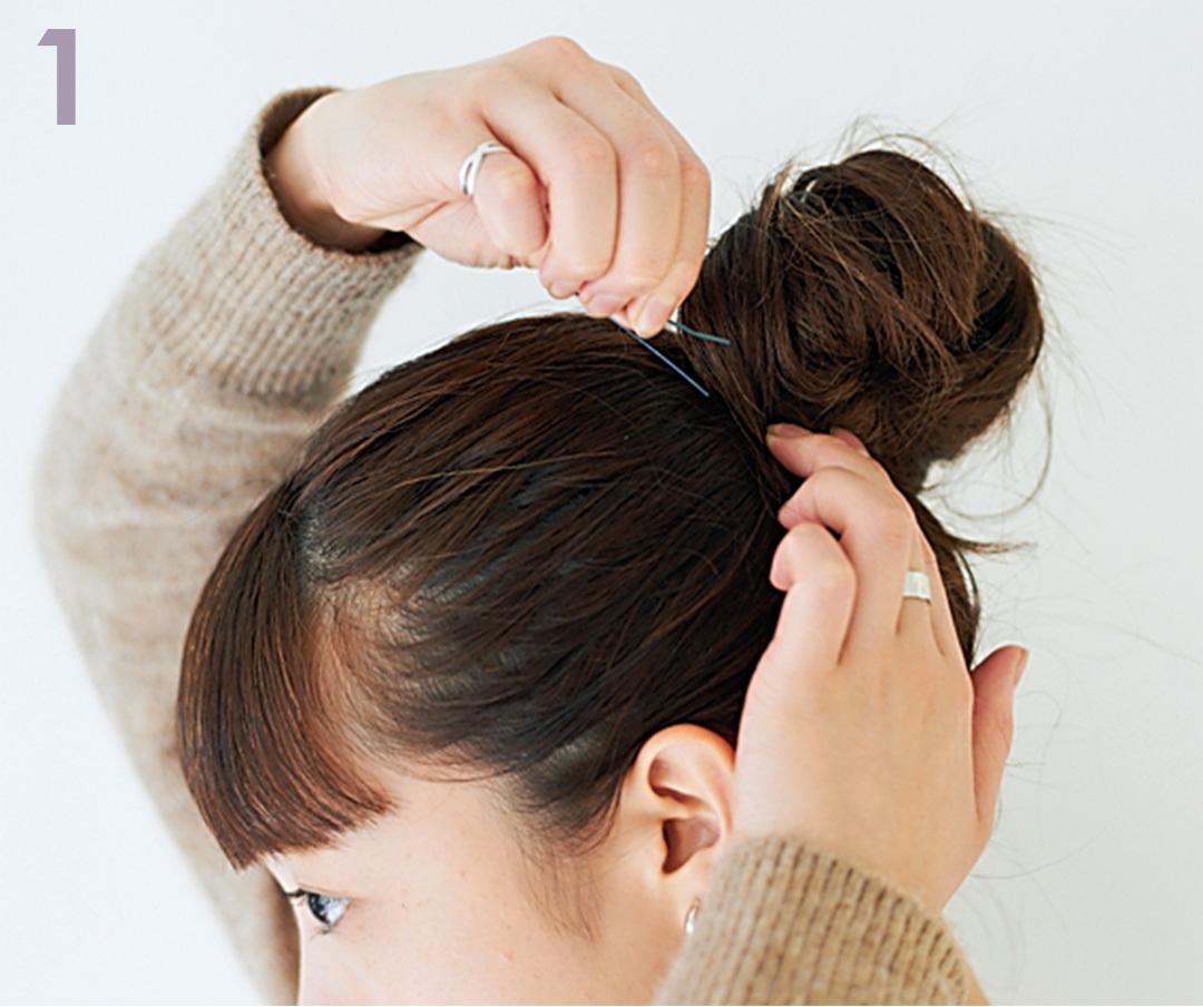 髪が多い&硬い&クセ毛…そんな人に似合うおだんごヘアアレンジはこちら★_1_6-1