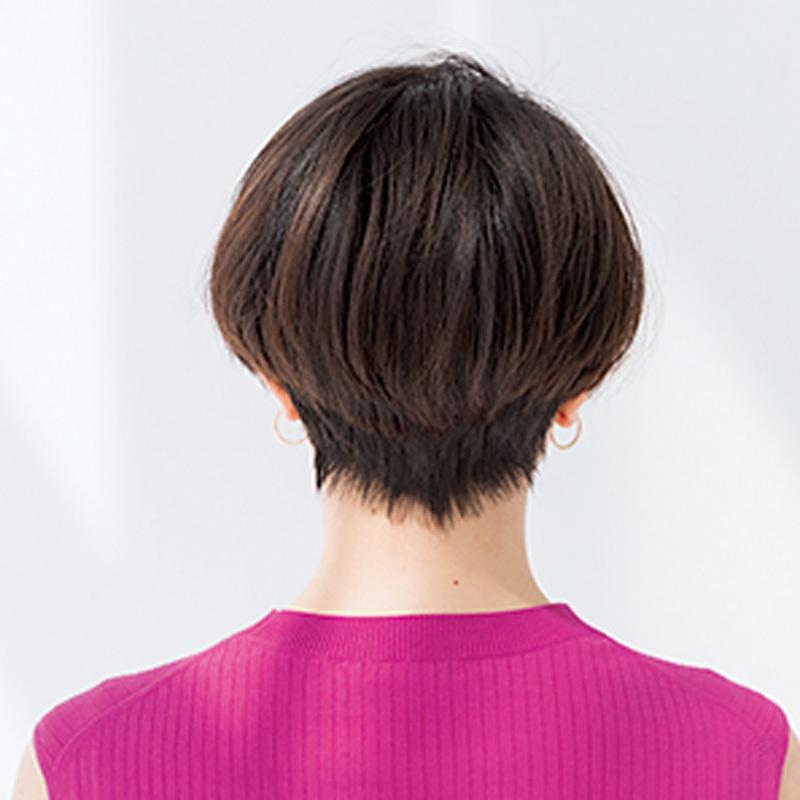 スッキリしているのに女性らしい。女っぷりフェミニンショート【40代のショートヘア】_1_1-3