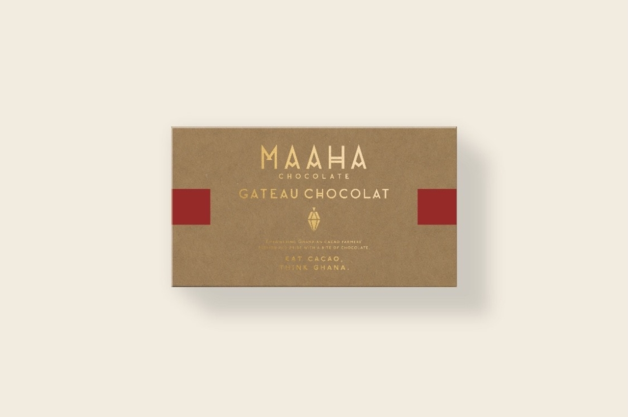 『MAAHA CHOCOLATE (マーハ チョコレート) 』の「生ガトーショコラ」¥2,750(税込)パッケージ