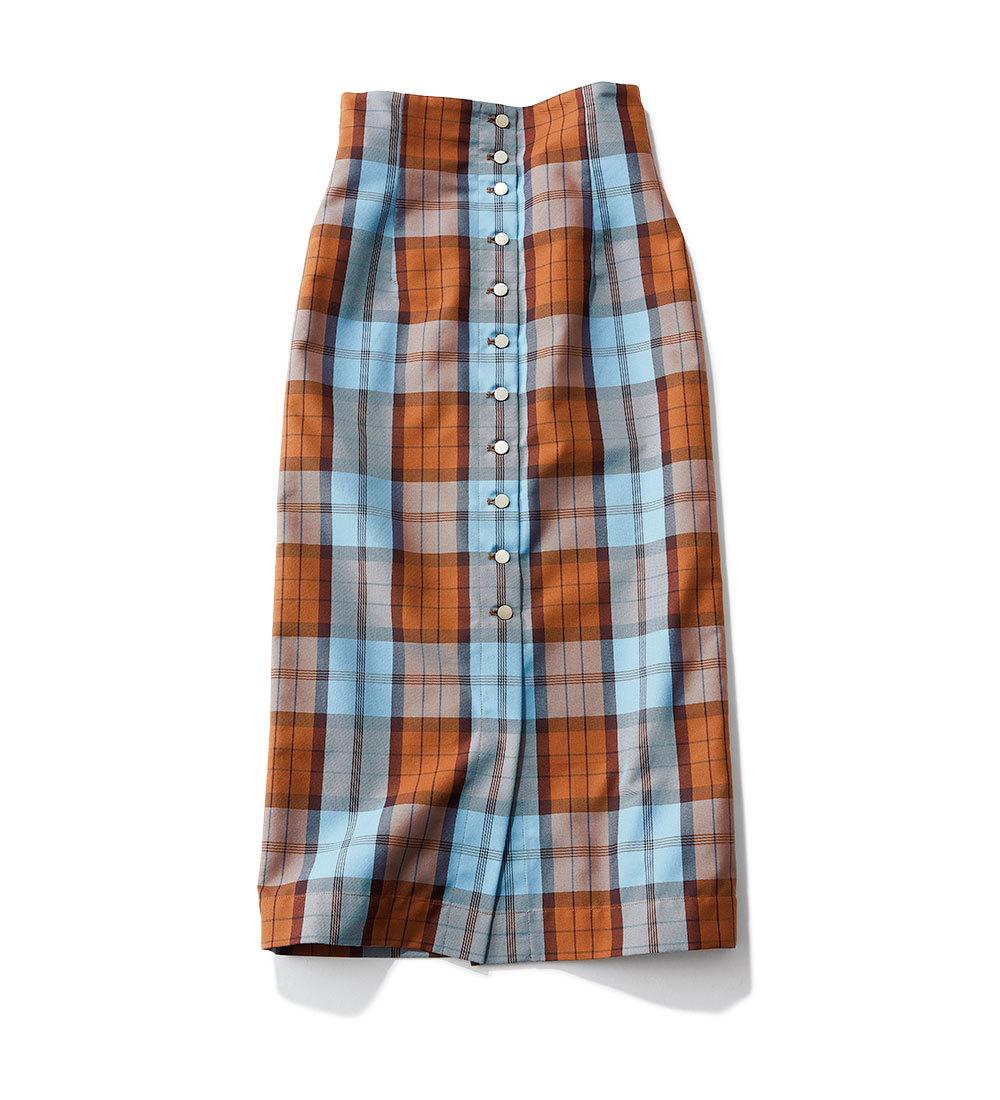 秋トレンドのチェック柄スカート