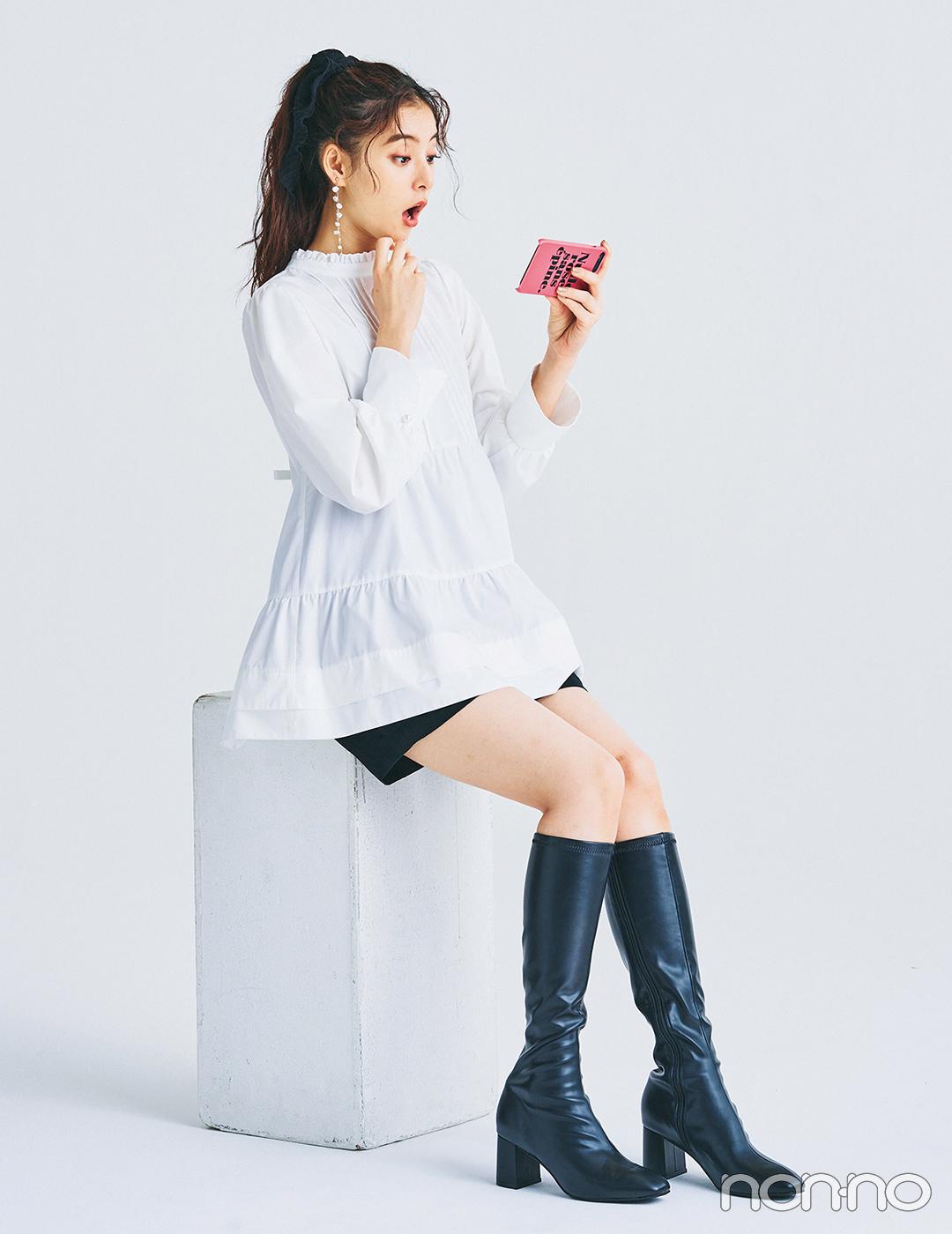 新木優子はボリュームブラウスで大人の可愛げスタイル♡【毎日コーデ】