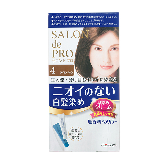 サロン ド プロ 無香料ヘアカラー 早染めクリーム 1剤40g、2剤40g 4(医薬部外品)¥850 /ダリヤ