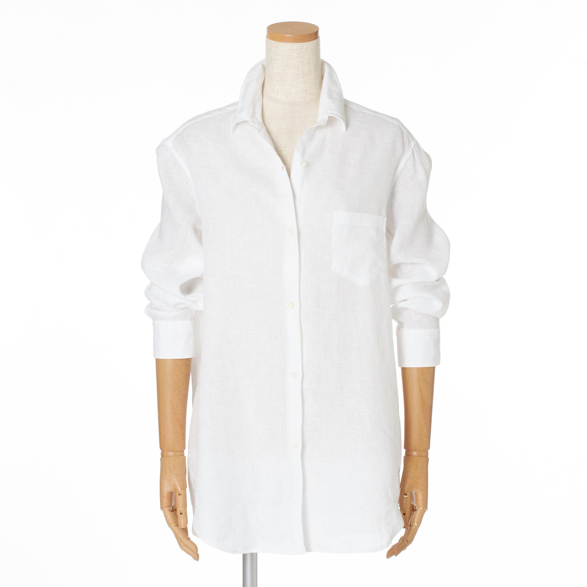 リラクシーな中に女らしさを感じさせて「Deuxième Classe」のリネンシャツ&プリーツパンツ_1_4