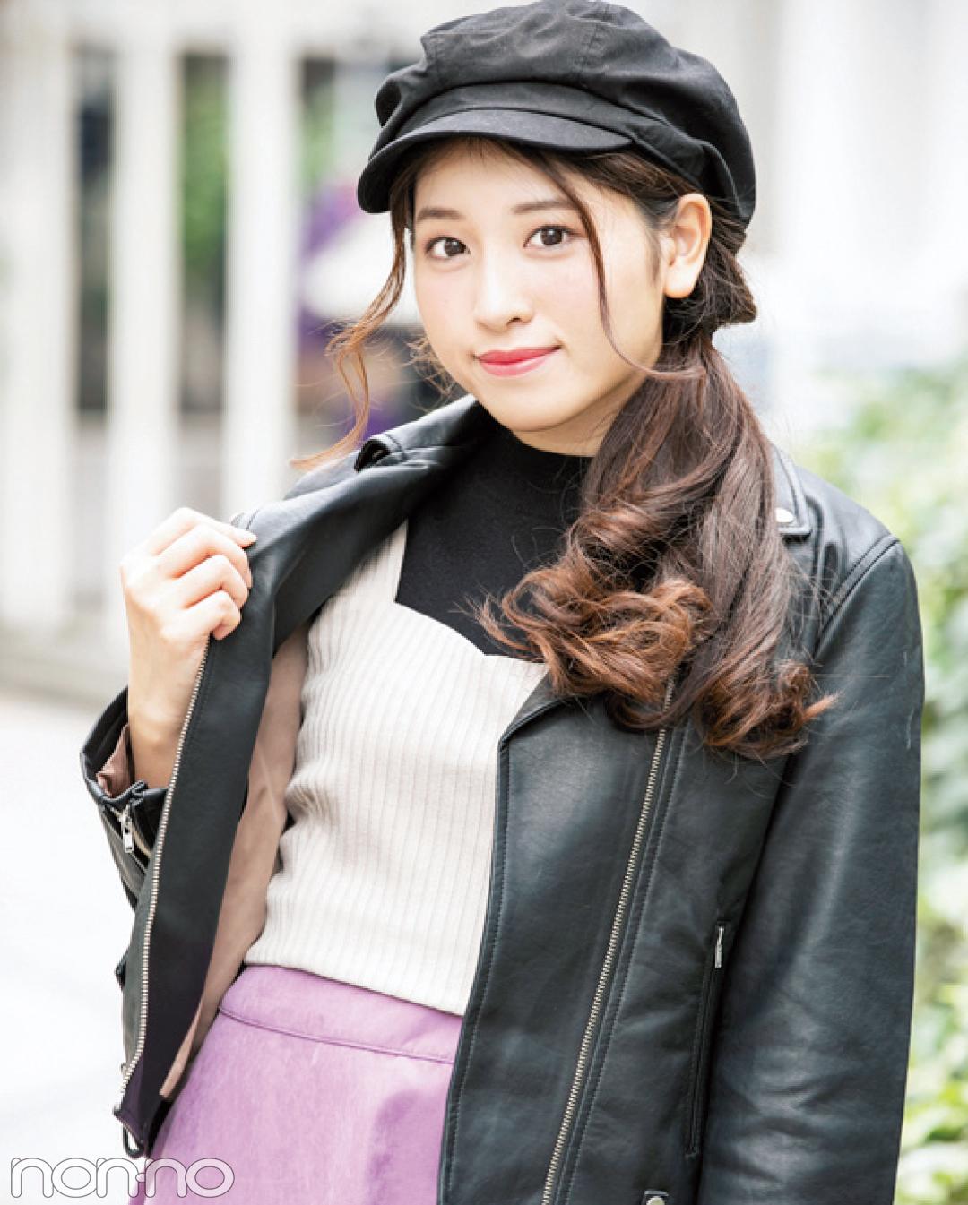 人気読モの冬のライダース×スカートコーデが可愛い!【カワイイ選抜】_1_3