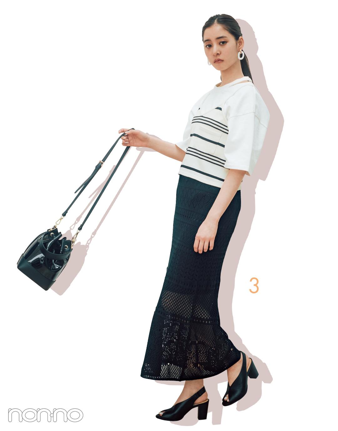 新木優子のシンプル白Tシャツ着回しコーデ、7通り! _1_3-3