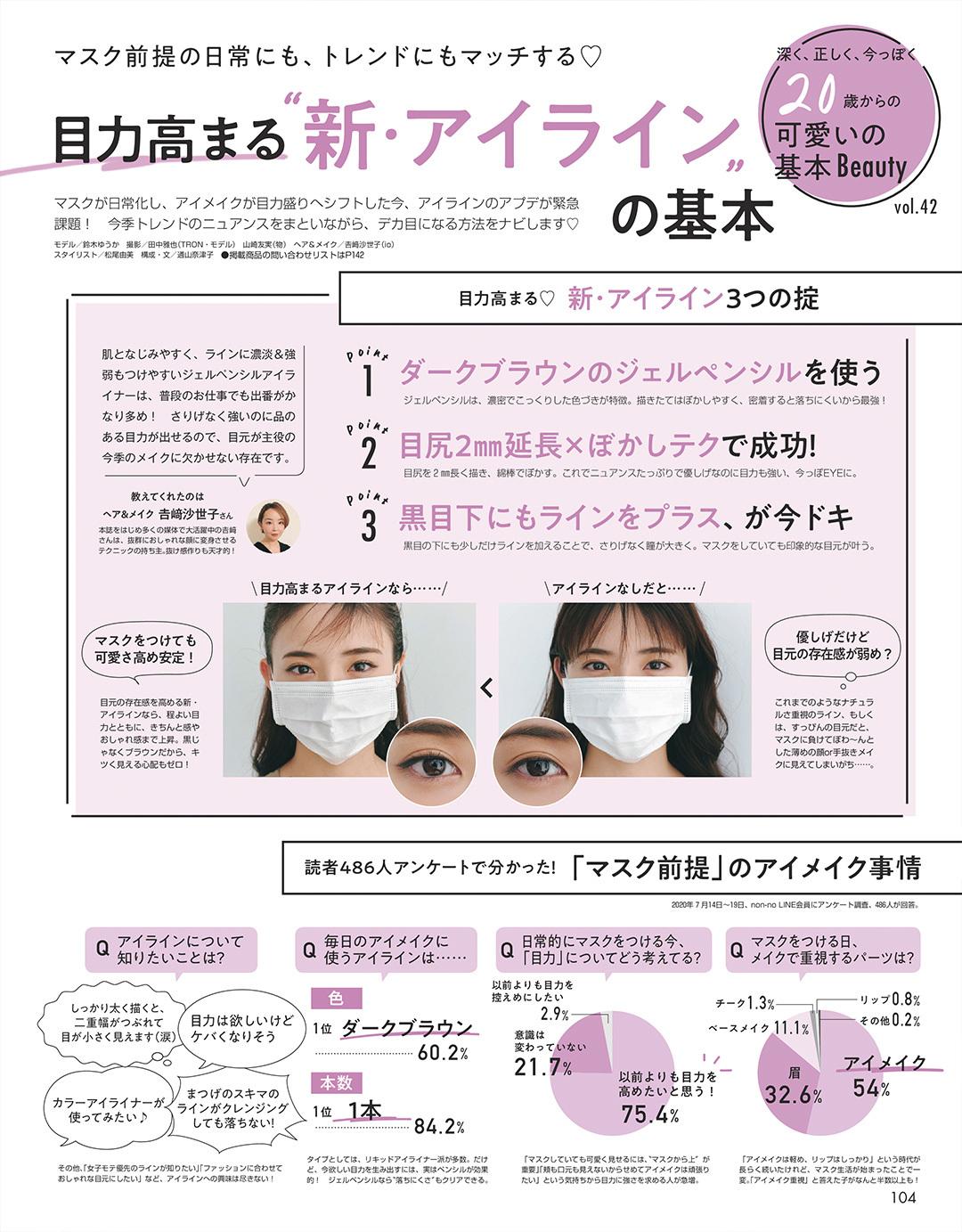 """目力高まる""""新・アイライン""""の基本"""