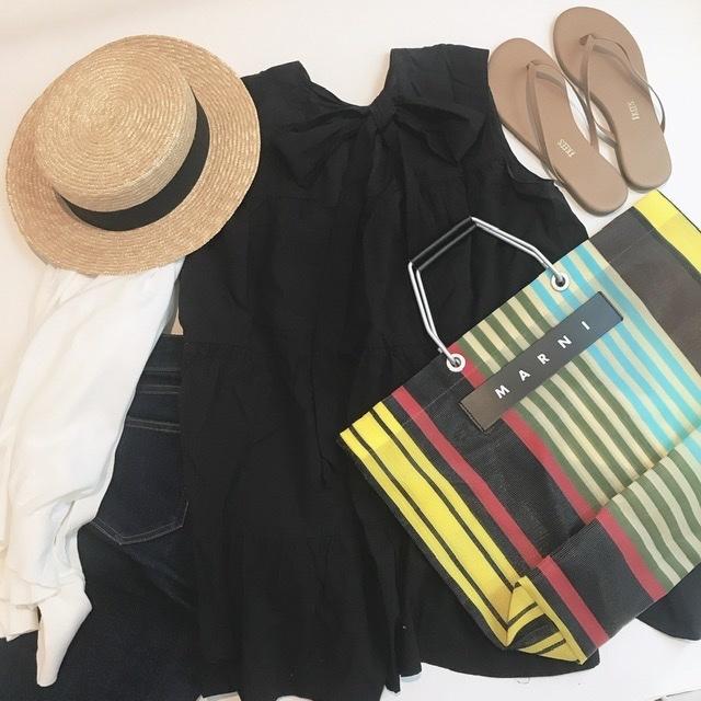 【marni market】のストライプバッグで夏らしく☺︎_1_3