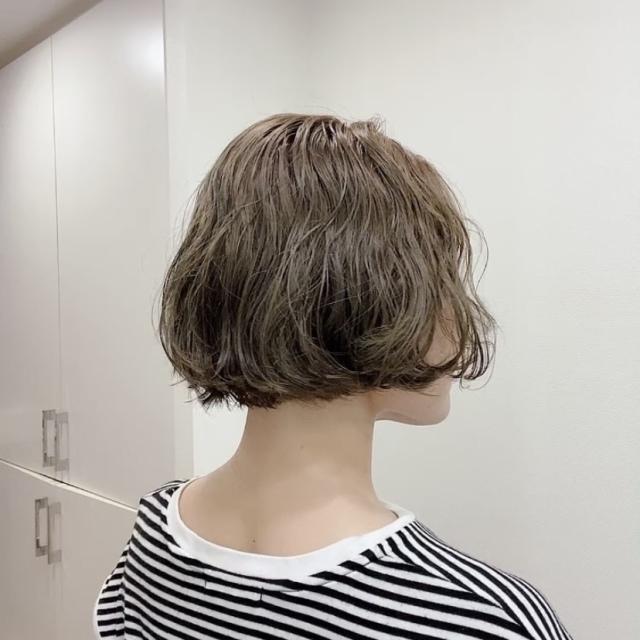 ヘアメンテ☆アッシュグリーンの肌補正効果_1_3