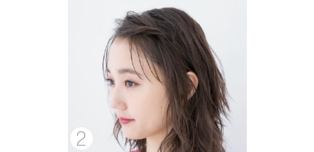 ミディアムなら前髪&サイドだけが簡単♡ 年末年始の女子会ヘアアレンジ_1_4-2