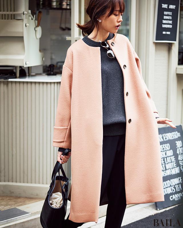 3万円台で買える「ローズピンク」の主役コート