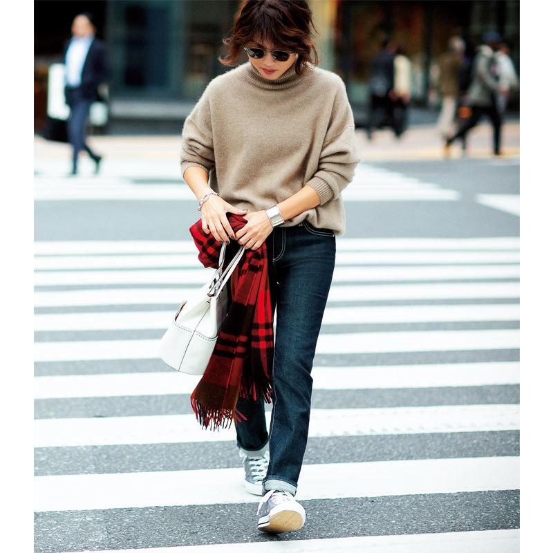 靴底に仕込んだ「あったかテク」で、真冬でも素敵にデニムを着る!_1_1