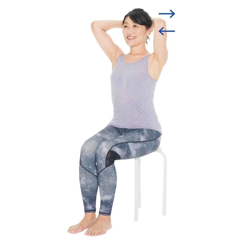 首の後ろの筋肉を強化する2:手の押し合いエクササイズ