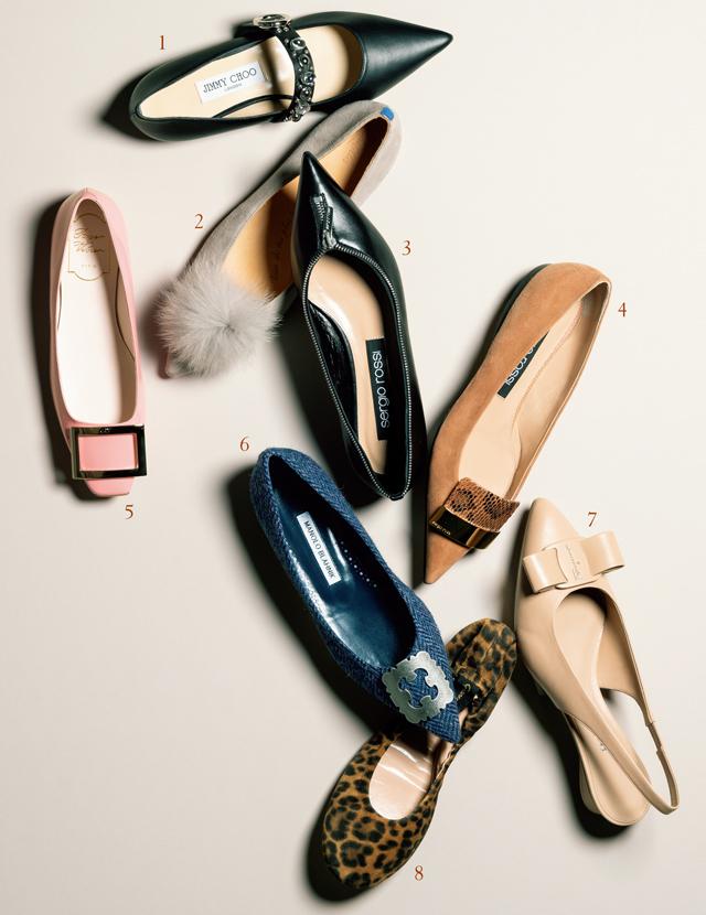 ひとくせあるフラット靴