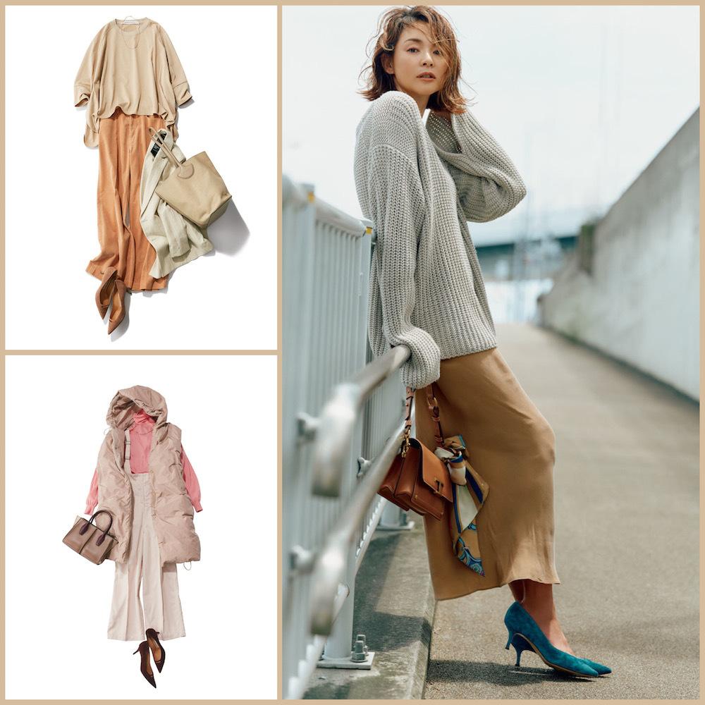 アラフォーを美しく見せるベージュが軸の秋ファッションまとめ|40代ファッション