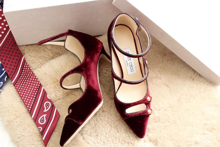 ボルドーカラー×ベルベットの女っぷり靴_1_1