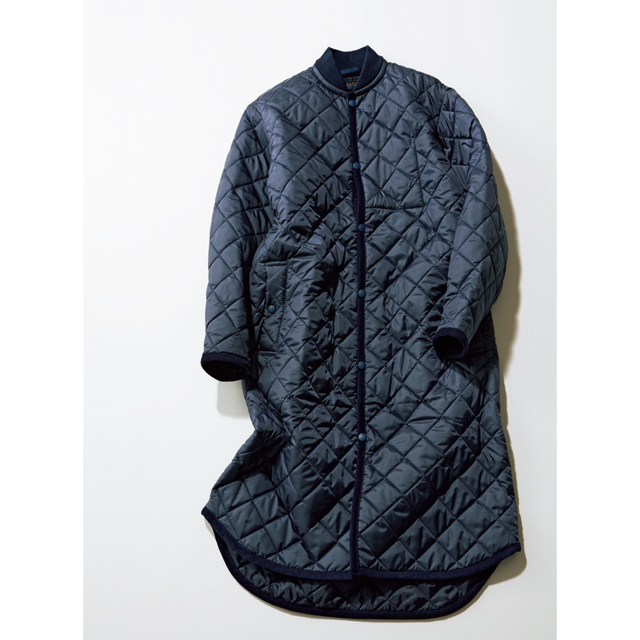 ラベンハムの新作はスポーティミックスの旬のオーバーサイズのキルティングコート