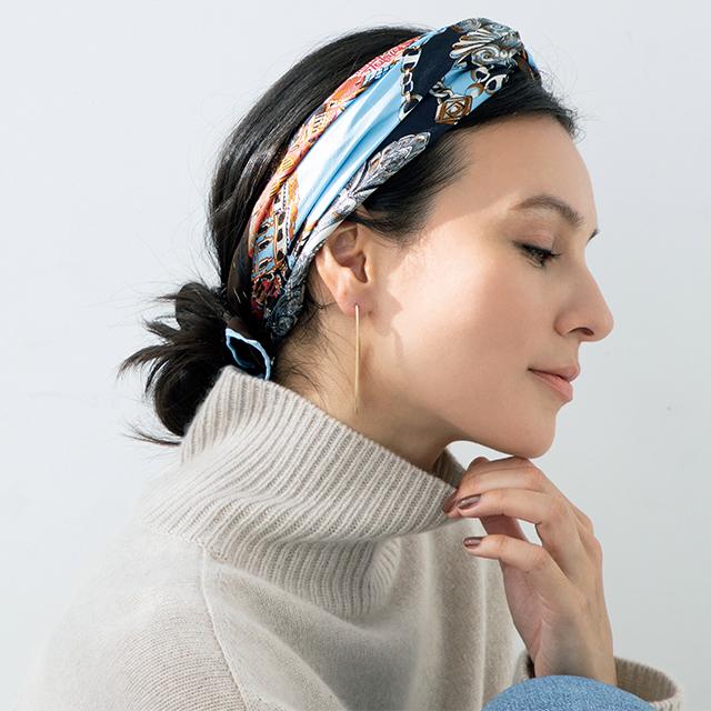スカーフヘアアレンジの田沢美亜