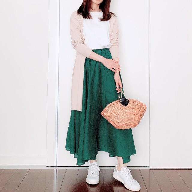 カラースカートでマンネリ打破【tomomiyuの毎日コーデ】_1_3