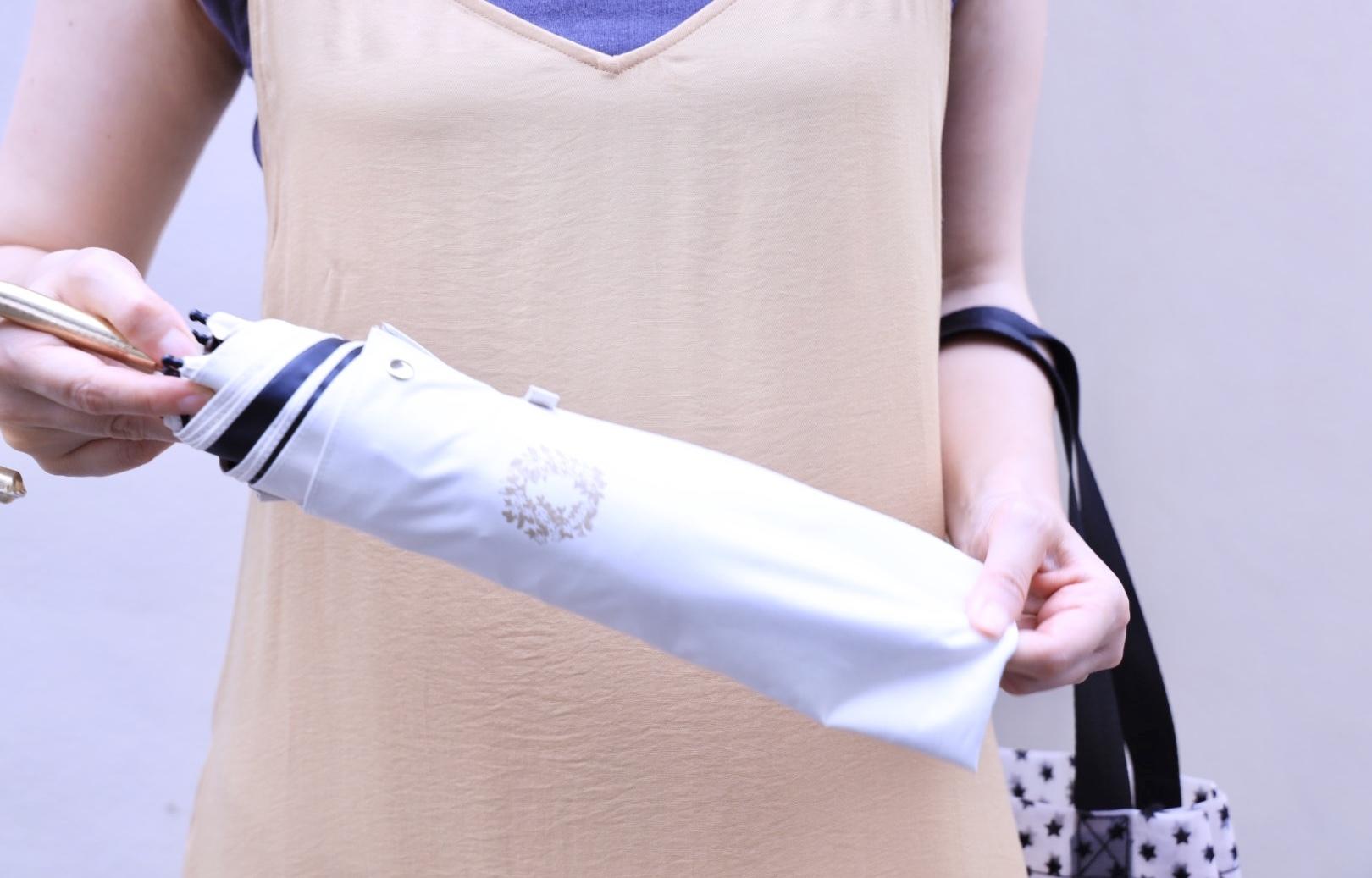 お気に入りの褒められ日傘と、美シルエットのユニクロキャミワンピ。_1_4