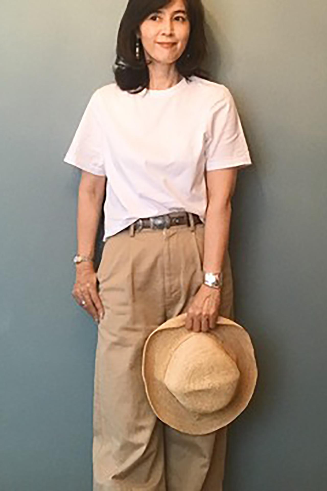 夏カジュアルを楽しみたい!エクラ華組のTシャツコーデ名人 五選_2_1-1