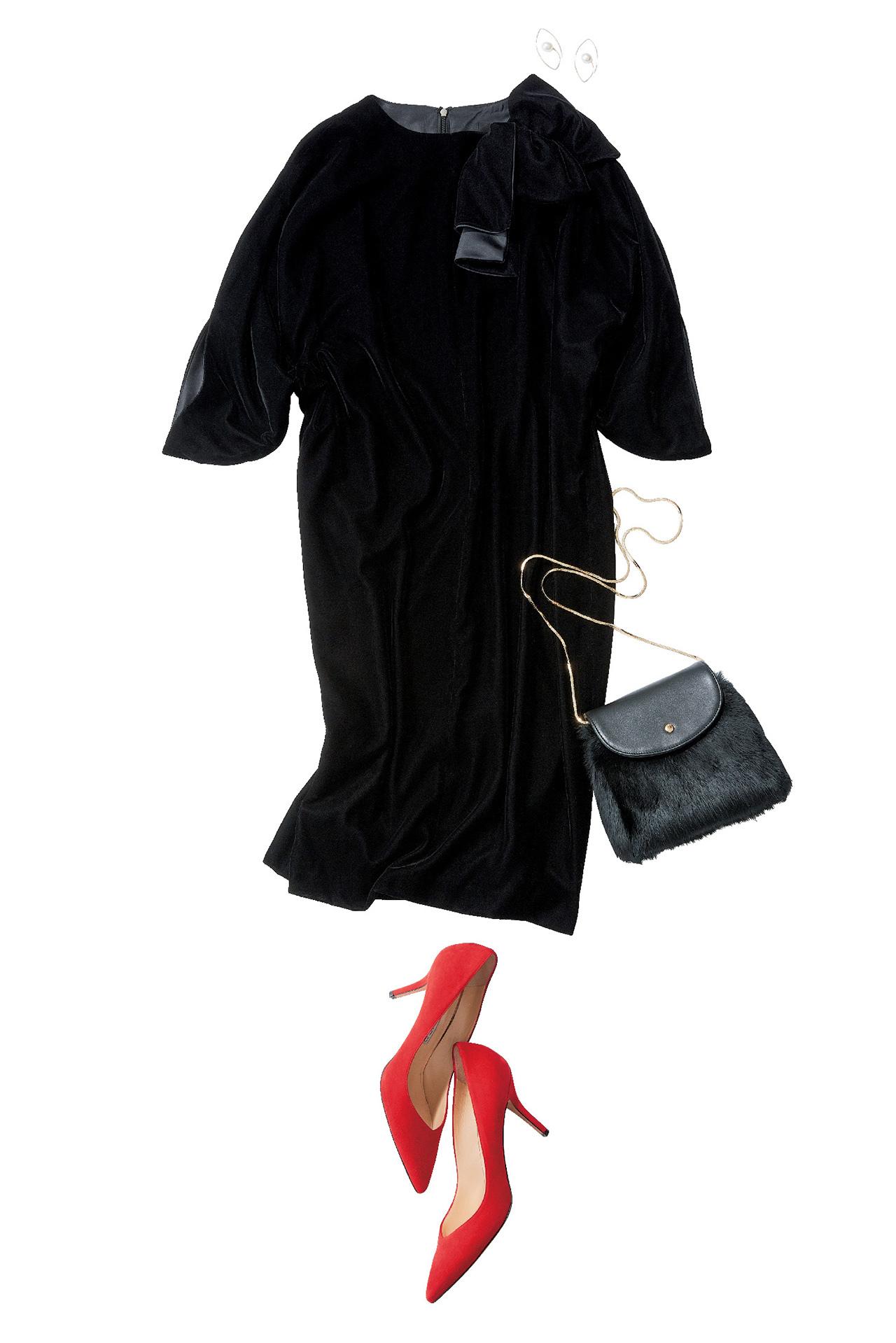 品のあるフェミニンワンピースで、好感度の高い同窓会ファッションに 五選_1_1-3