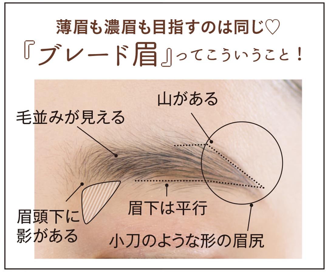 ブレード眉とは? こういう眉のこと。