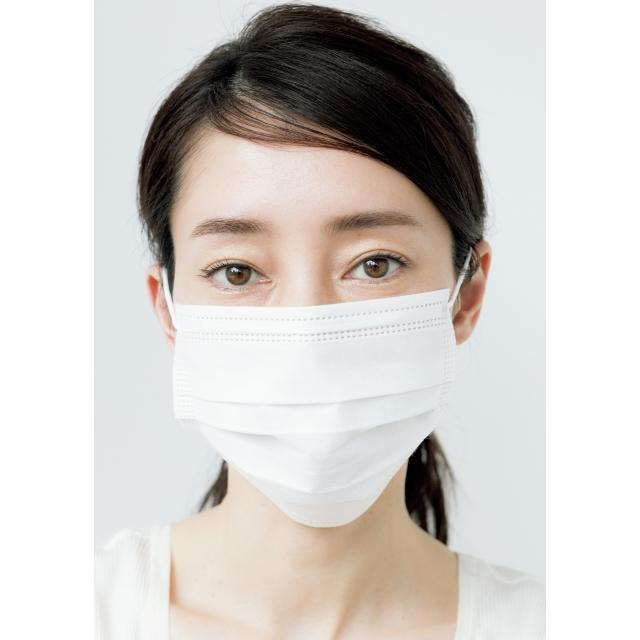 描きすぎない眉 マスク着用