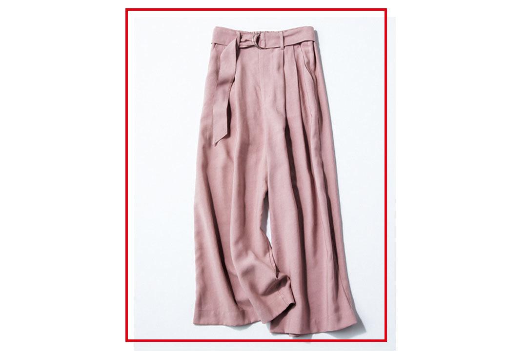 西野七瀬のスカーチョ着回し☆トレンドのくすみピンクで4Days_1_1