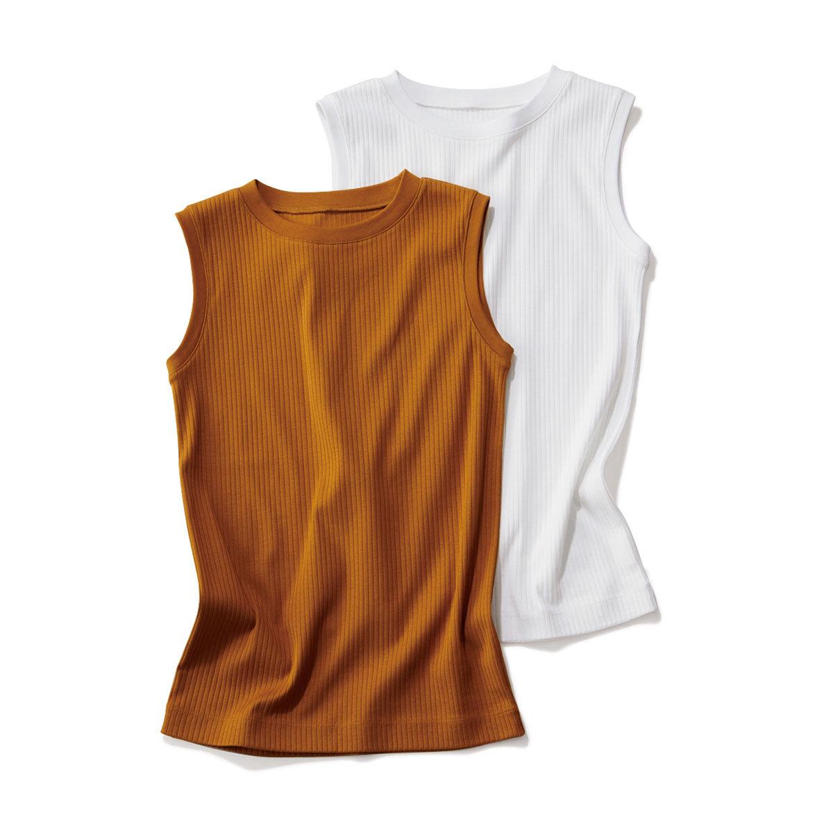 40代ファッション2019年夏のお買い物_アッシュ・スタンダードのノースリーブカットソー