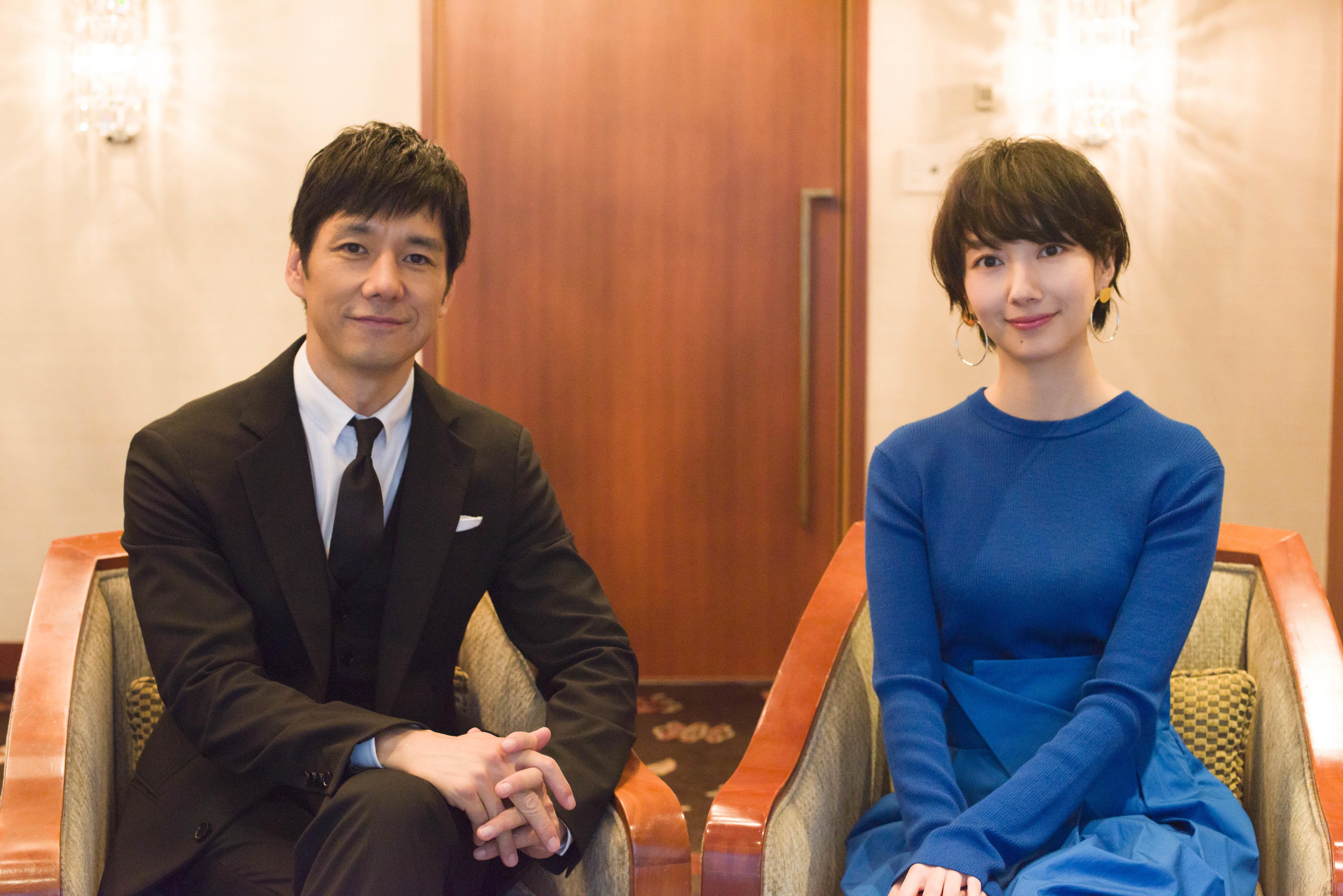 女優波瑠と俳優西島俊秀