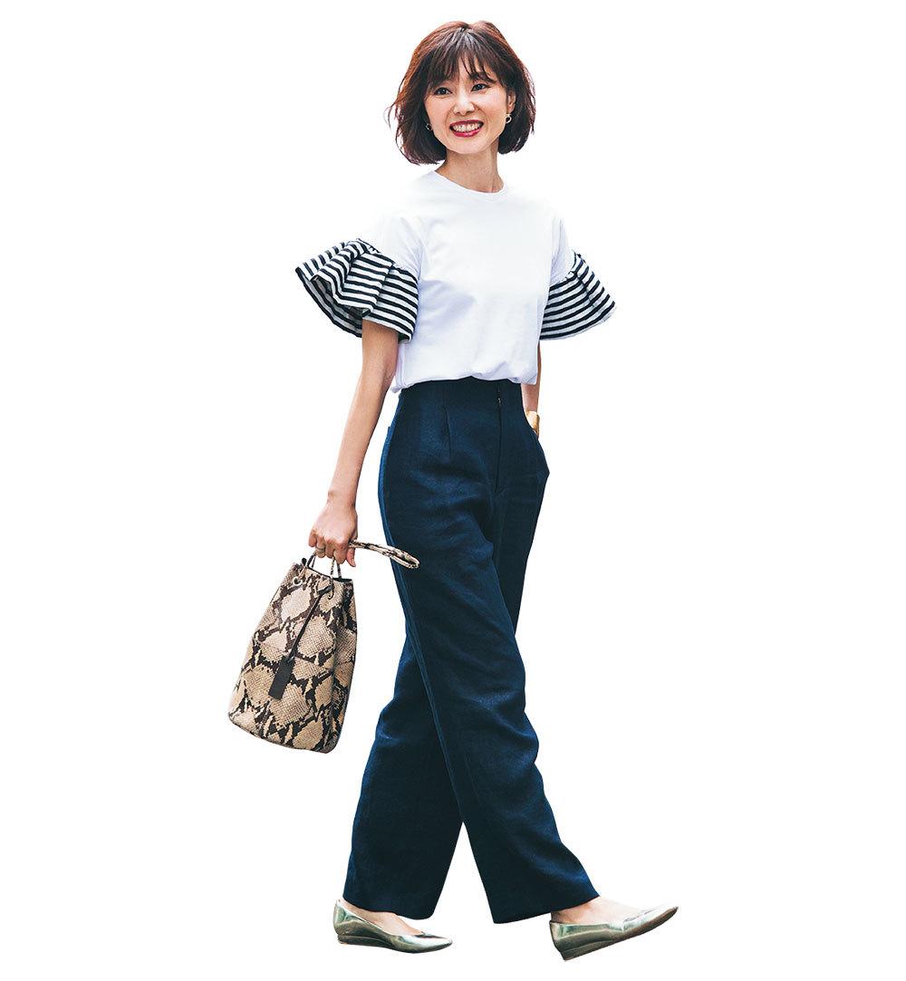 通勤パンツも堅すぎず、きちんとおしゃれなのが美女組流 Style【美女組ファッションSNAP】_1_1-2