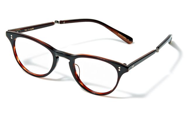 ボストンタイプをベースにキャットアイの要素をプラスしたミスター・ライトのメガネ