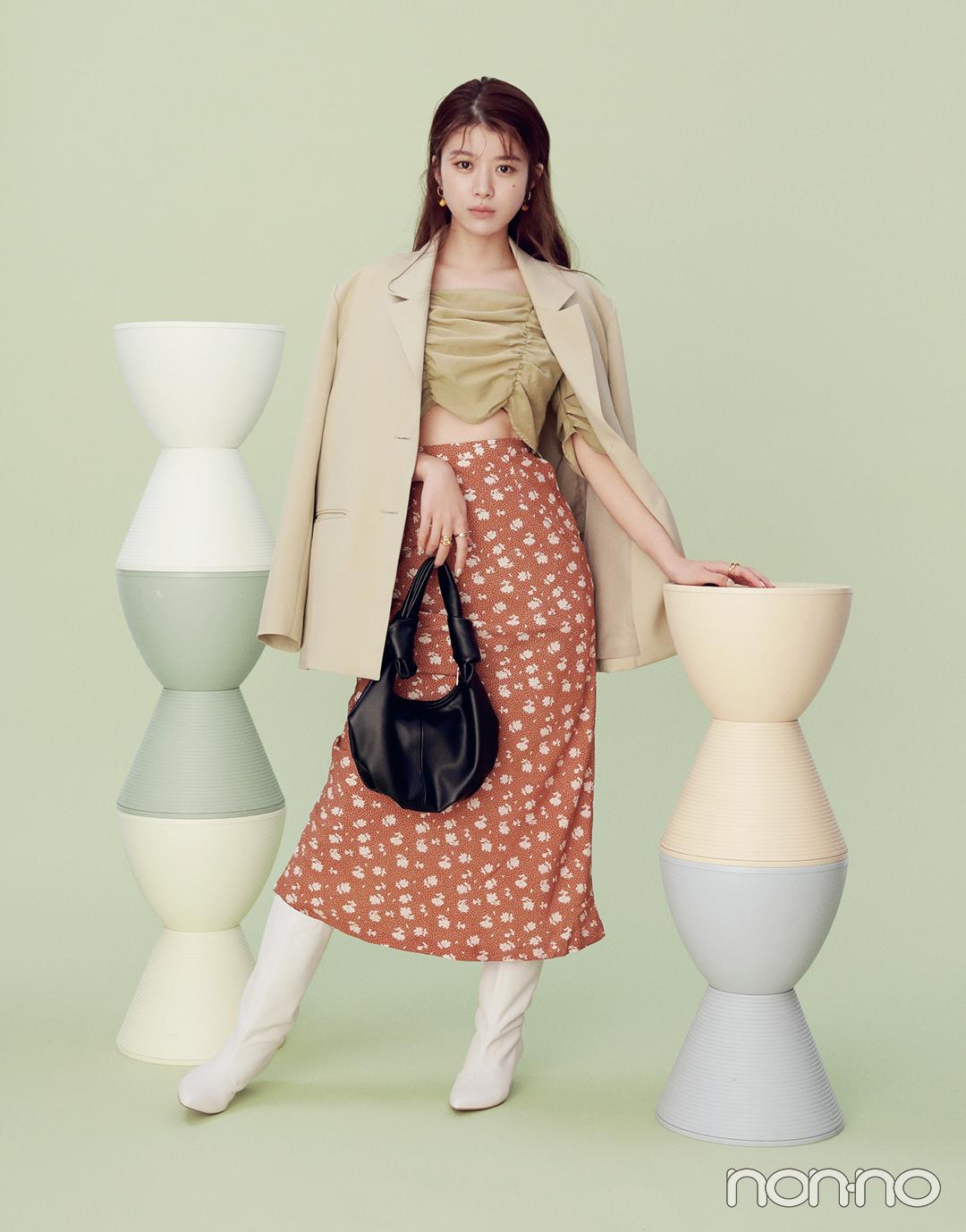馬場ふみかの春色ニュアンスコーデ3