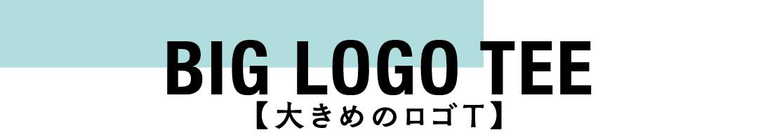BIG LOGO TEE 大きめのロゴT