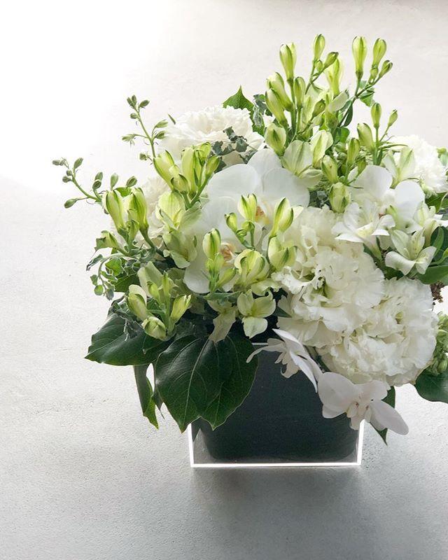 【花のある暮らし】白とグリーンのブーケ_1_1