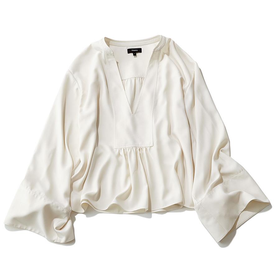 手元にフェミニンさを。着るだけで女らしさが手に入る「ボリューム袖」シャツ_1_2-2