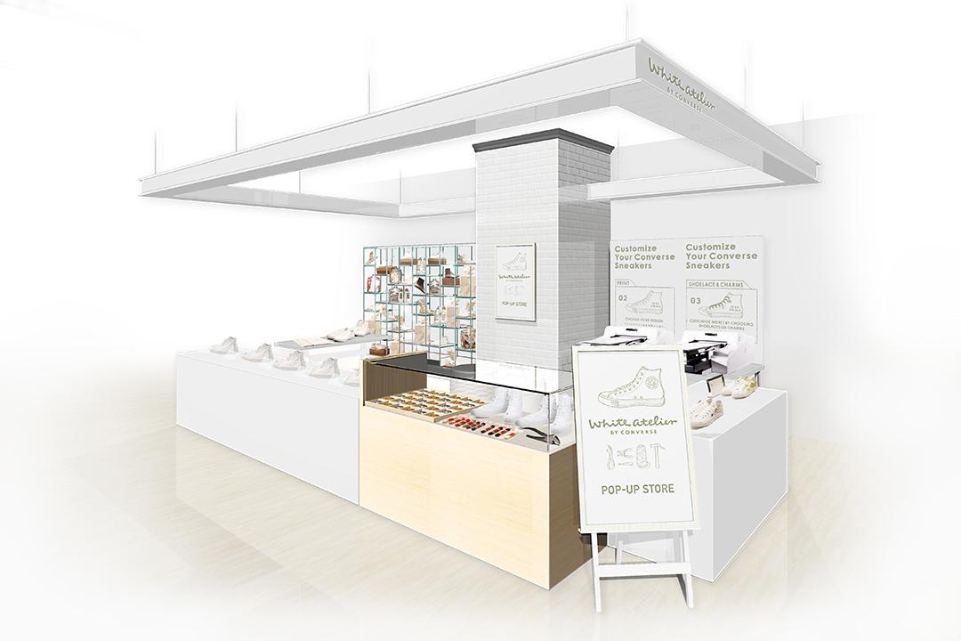 マイコンバースが作れる!「White atelier BY CONVERSE」期間限定ストアが横浜・大阪・京都・福岡にオープン!_1_1