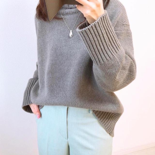 ユニクロの春色パンツ【tomomiyuの毎日コーデ】_1_1