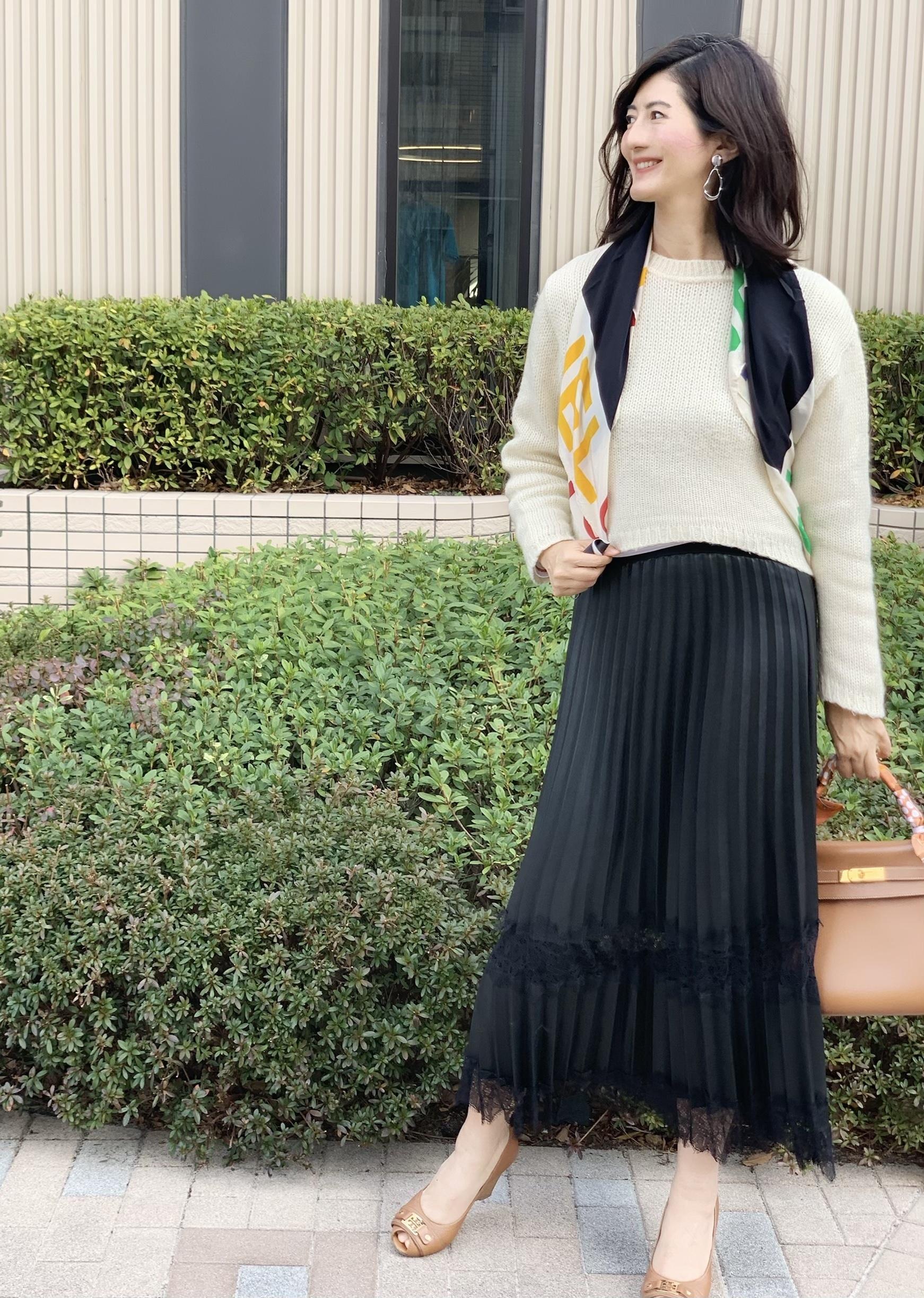 おしゃれブロガーの春スカートコーデ