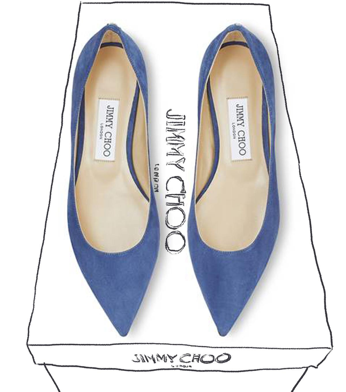 ファッション ジミー チュウのポインテッドトゥシューズ