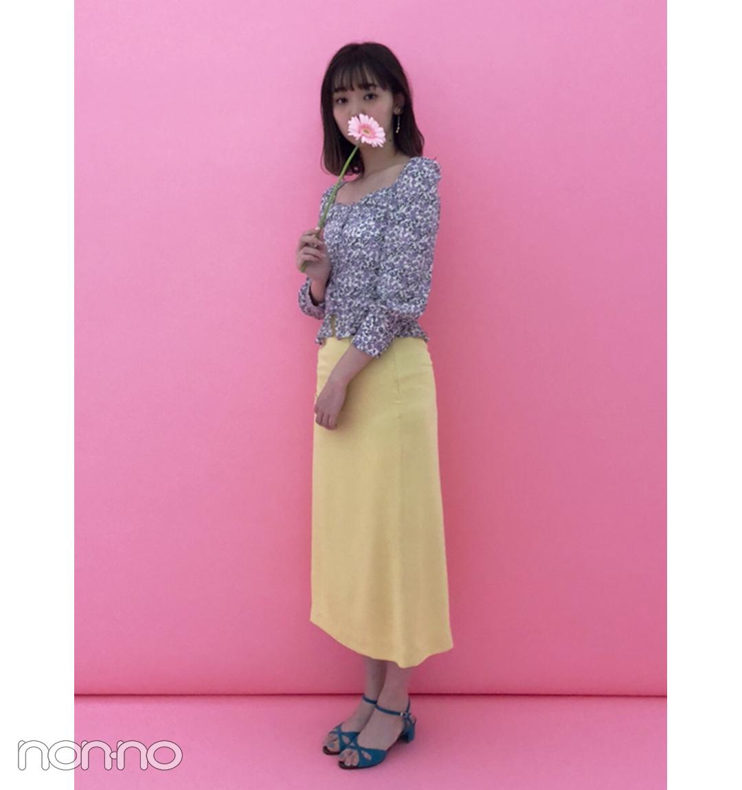 江野沢愛美は韓国ブランドでレトロマンチックコーデ【毎日コーデ】