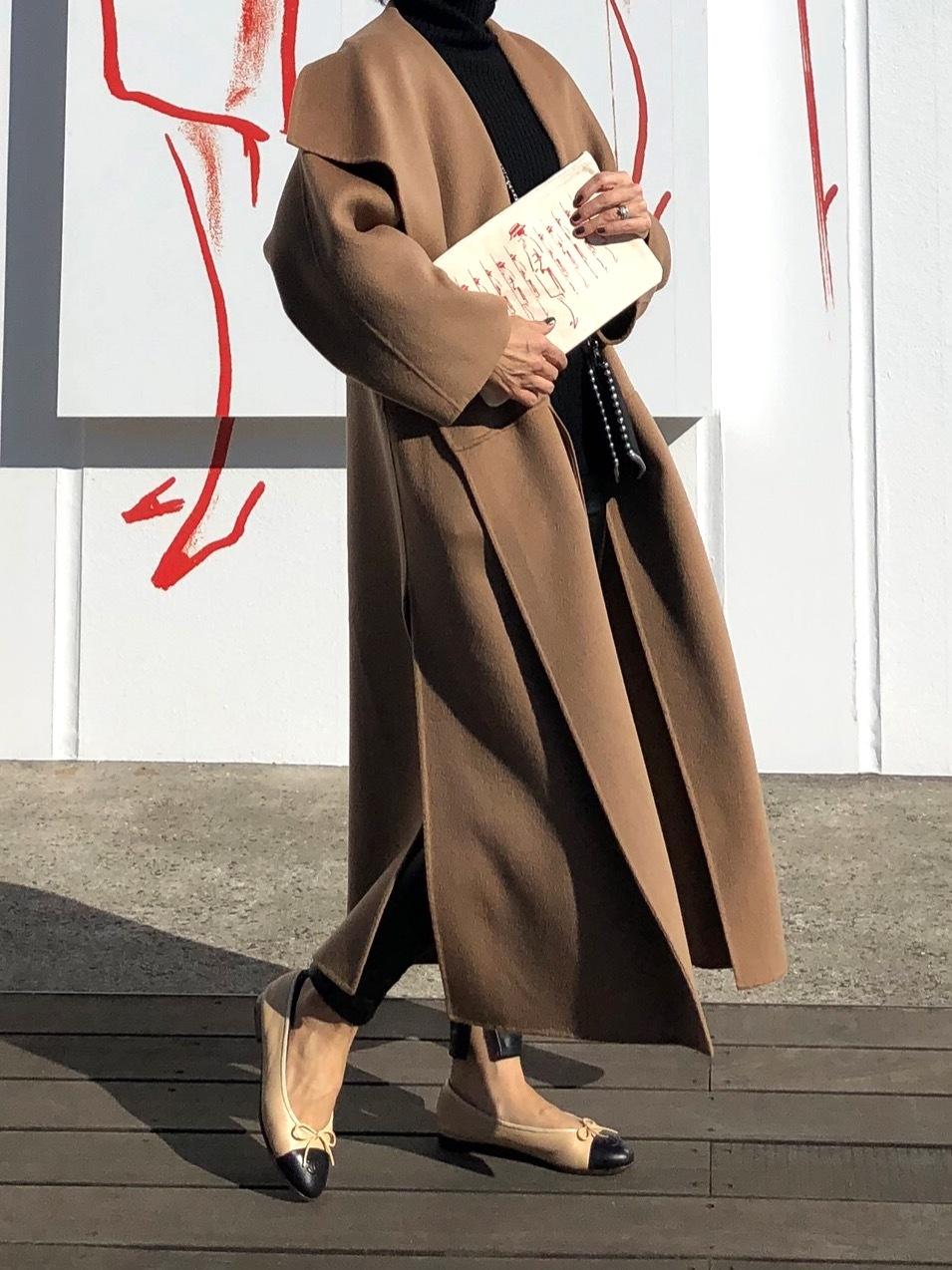 お気に入りキャメル色のコートとシャネル展_1_6