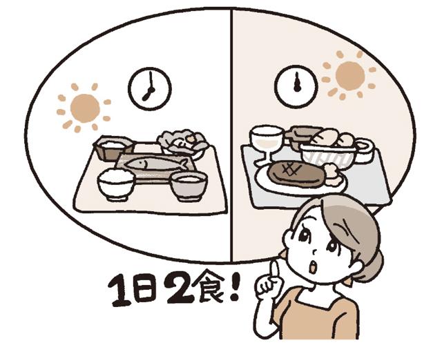 血糖値のアップダウンを抑える意味でも3食とるほうがベター