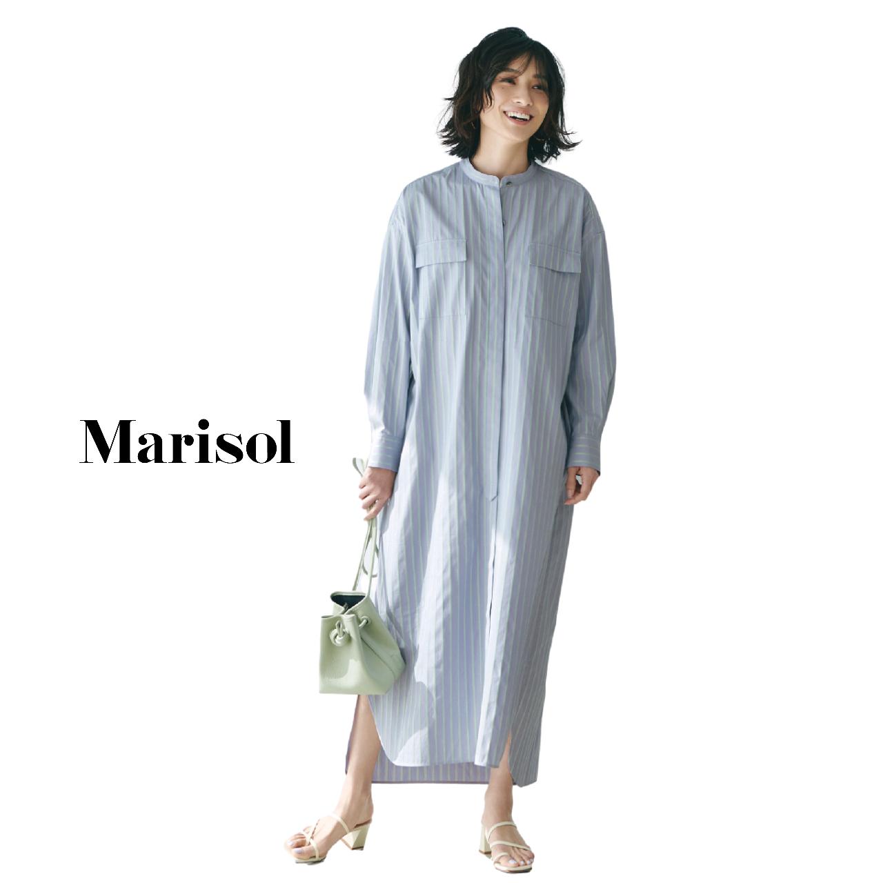40代ファッション  ロングシャツワンピースコーデ