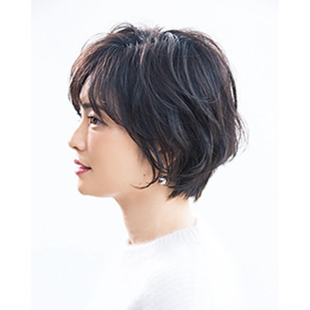 横から見た 40代人気ショートヘアスタイル2位の髪型
