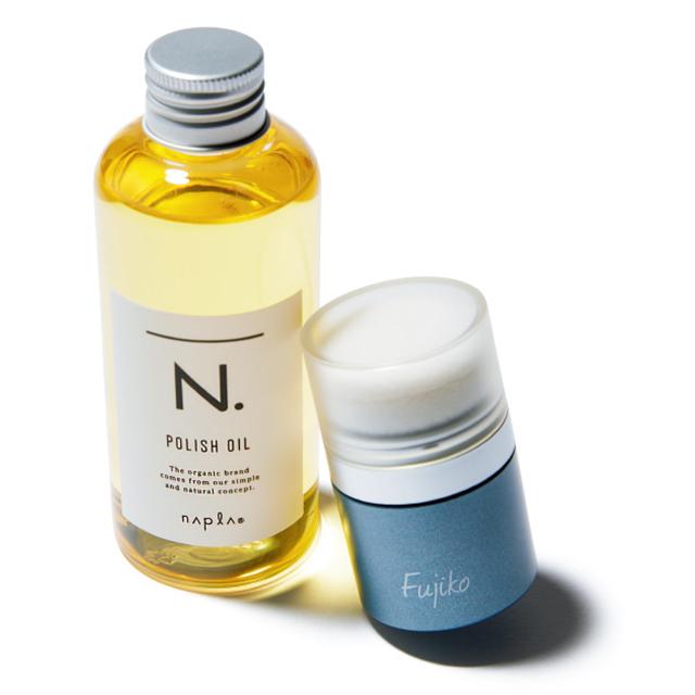 FujikoのFFPパウダーとナプラ(N.)のN. ポリッシュオイル