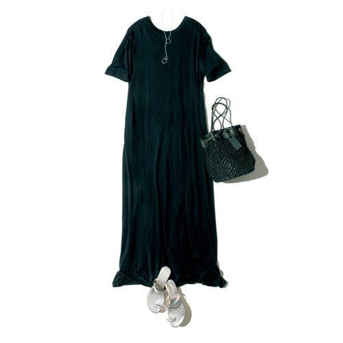 CINOH×eclat フレアジャージードレス ¥28,000+税