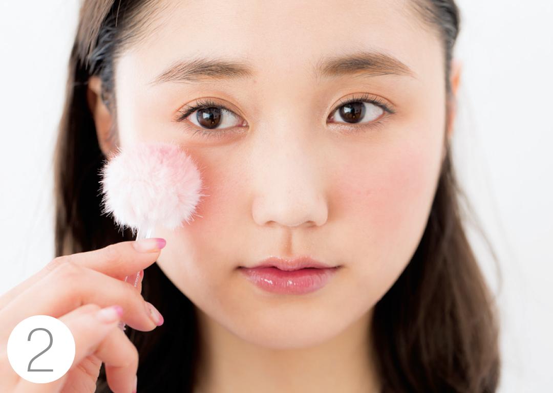 好感度アップを狙うなら、ピンクのパウダーチークでふんわりスイート顔★_1_4